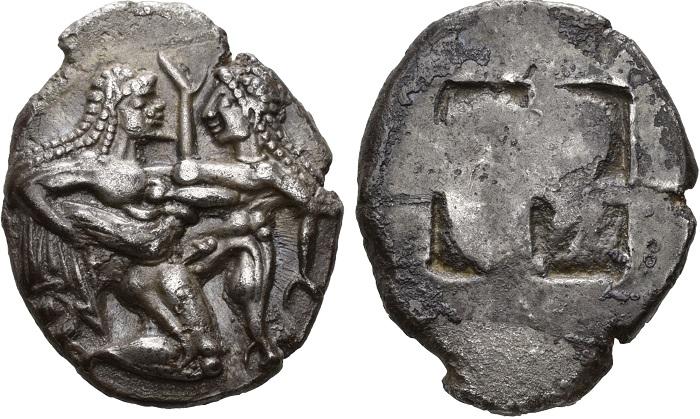 Taso, statere, intorno al 540-525 a.C.