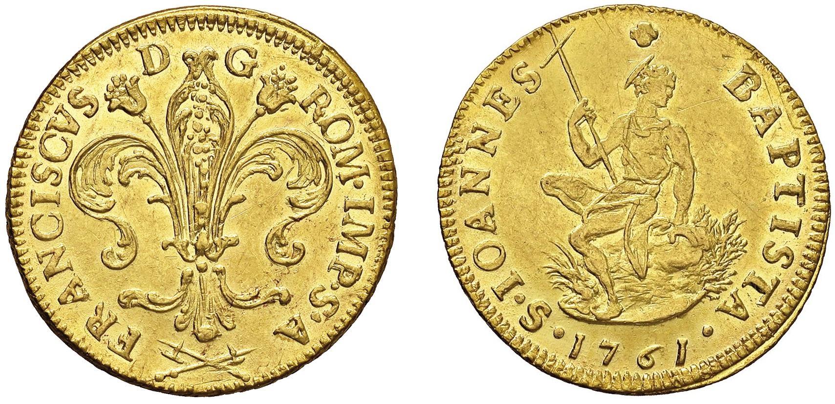 Ruspone di Francesco II di Lorena (1737-1765) raro e Spl+; al lotto 359 è stimato € 800/1.200