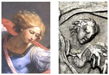 Il volto dipinto da Guido Reni e quello bulinato dall'Hamerani
