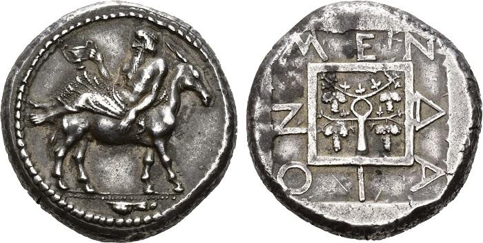 Mende, tetradramma, intorno al 450-425 a.C.
