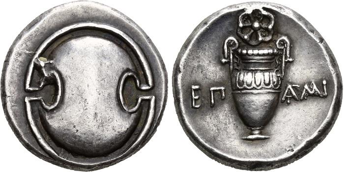 Tebe, statere di Epaminonda, prima del 362 a.C.