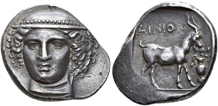 Ainos, Tetradramma, circa 400-370 a.C