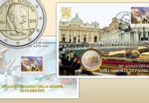 Dal Vaticano la busta per San Pio e il volume numismatico 2017