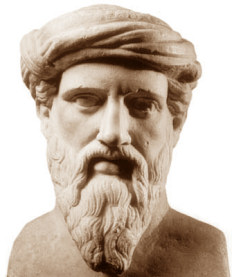 """""""Il mio amico pi greco"""" - Busto di Pitagora, uno dei massimi esponenti delle scienze matematiche in epoca classica"""