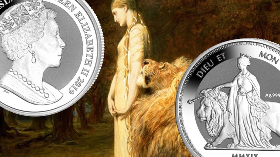 """""""Una and the Lion"""" rivive nell'argento grazie a Pobjoy Mint"""