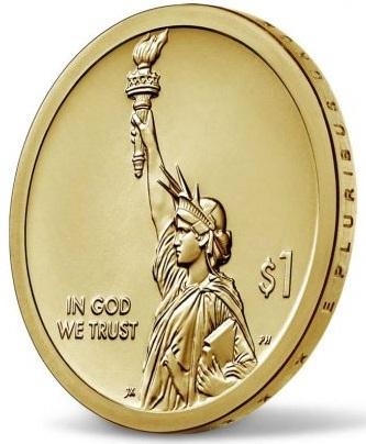Motto sul taglio, estrema pulizia nella composizione: bello il dritto della nuova serie di dollari che esalta al massimo la Statua della Libertà