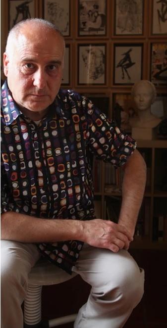 Una foto del maestro Valentino Moradei Gabbrielli tratta dal sito ufficiale dell'artista
