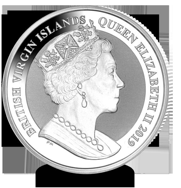 Discendente di Vittoria, altrettanto importante nella storia inglese, Elisabetta II è ritratta sul dritto