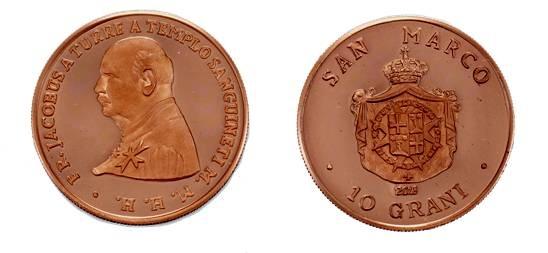 I 10 grani in bronzo vompletano la serie annuale dello SMOM - Ordine di Malta
