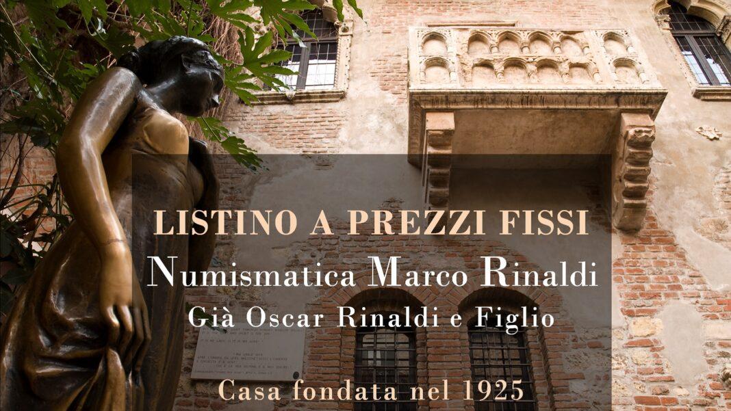 Numismatica Marco Rinaldi: il nuovo listino a prezzi fissi del mese di febbraio 2019
