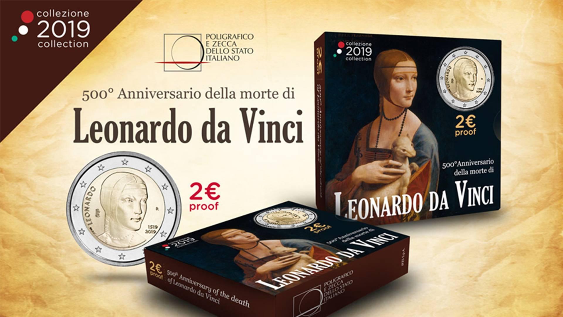 Leonardo da Vinci inaugura l'anno numismatico della Repubblica