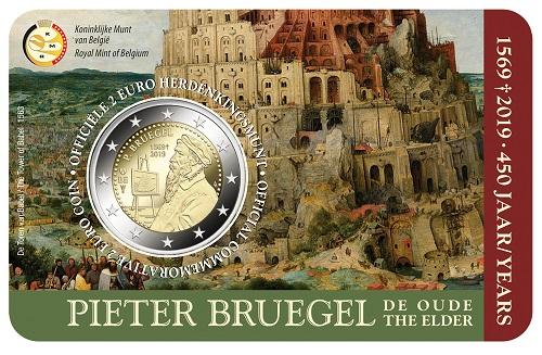 Sono 150 mila le coin card BU belghe che celebrano i 450 anni della morte di Pieter Bruegel il Vecchio