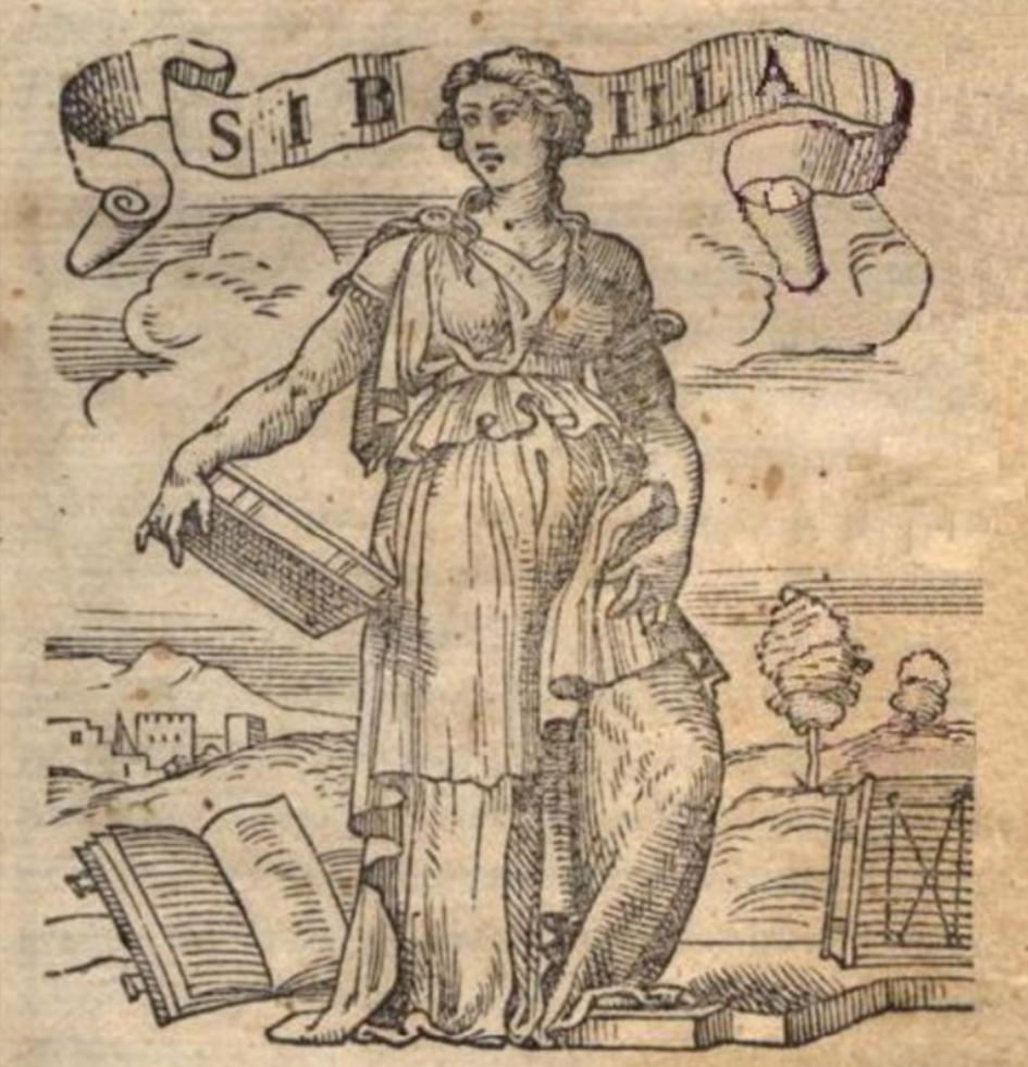 a Sibilla Appenninica in un'incisione rinascimentale