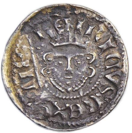 """Il regale ritratto con corona e scettro al dritto del """"double penny"""" di Enrico III d'Inghiltera"""