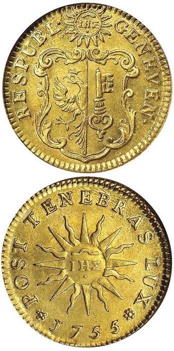 Pistola in oro battuta a Ginevra nel 1755
