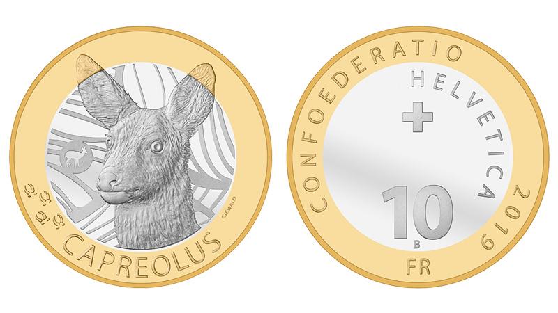 I 10 franchi che la Svizzera ha appena dedicato al capriolo, uno degli animali tipici della fauna del paese