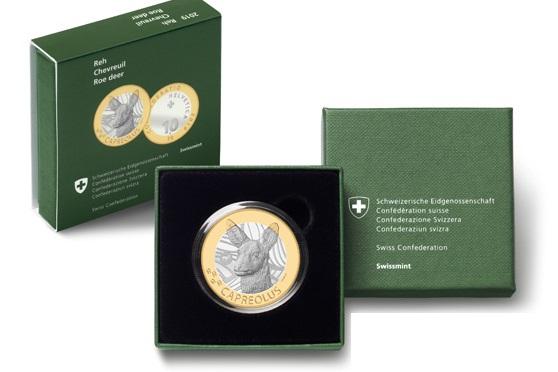 Ai collezionisti di monete svizzere piace il fondo specchio: ecco perch+ sono ben 3.000 gli astucci che contengono la moneta in questa finitura