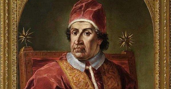 Frammento di ritratto di Clemente XI Albani, vero destinatario dell'aulico verso citato sulla medaglia giacobina