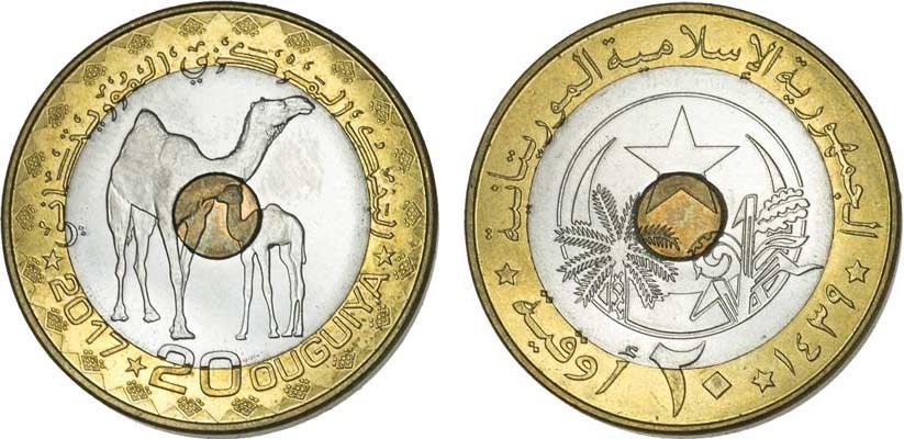 Davvero suggestiva la trimetallica di Mauritania premiata come miglior moneta destinata alla normale circolazione