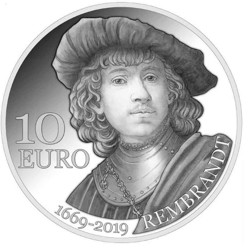 Un'impostazione classica e curata per i 10 euro dedicati a Rembrandt, di cui ricorreil 350° anniversario della scomparsa
