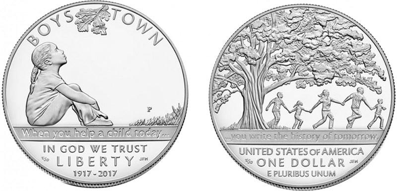 """Il dollaro USA per i cento anni della """"Boys Town"""" è la monet più poetica del 2017"""