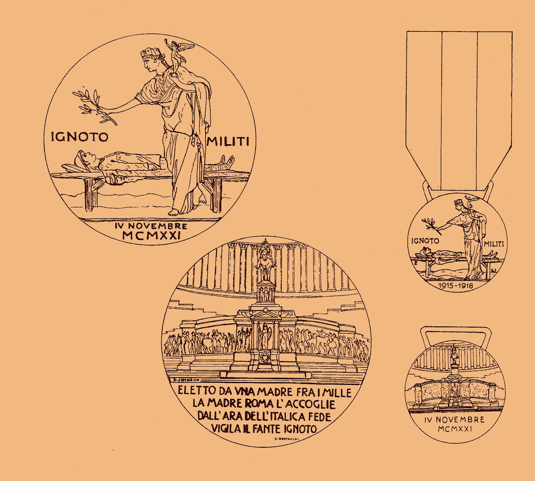 Fig. 5 | La medaglia prodotta per la tumulazione dalla ditta milanese Lorioli & Castelli (opus Pogliaghi)
