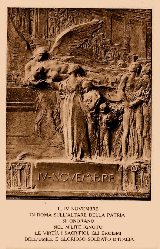 Fig. 9 | La placca di Egidio Boninsegna su una cartolina stampata nel 1921