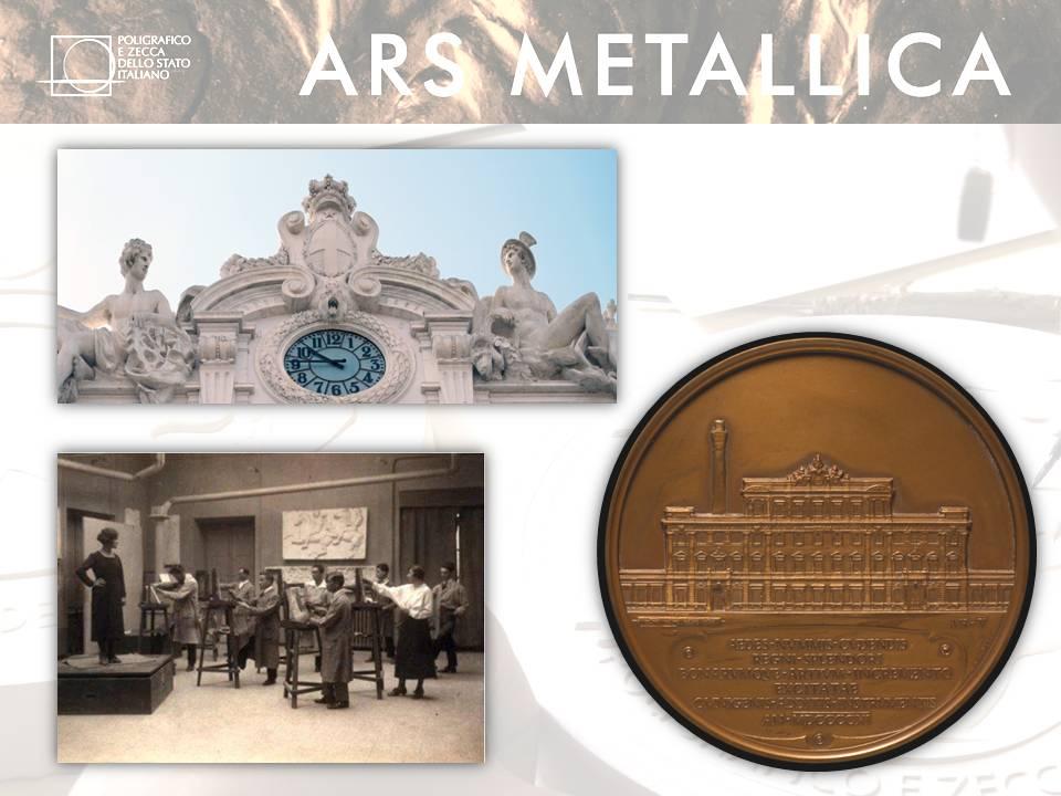 In alto a s. lo storico orologio con statue che orna la ex Zecca di via Principe Umberto a Roma