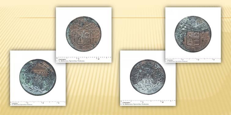 monete come memoria del passato in un tubo di piombo