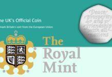 Dalla Royal Mint 50 pence per il mesto addio alla UE