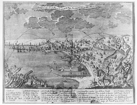 Ancona assediata e bombardata dal mare nel 1799