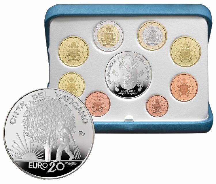 Il seminatore in armonia con il Creato: uomo e natura sui 20 euro in argento proof firmati Ventura