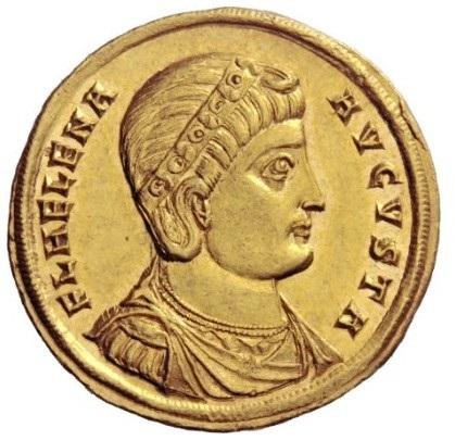 """Lo splendido ritratto di Elena sul dritto del medaglione di Nicomedia forse coniato per l'attribuzione del titolo di """"Augusta"""""""