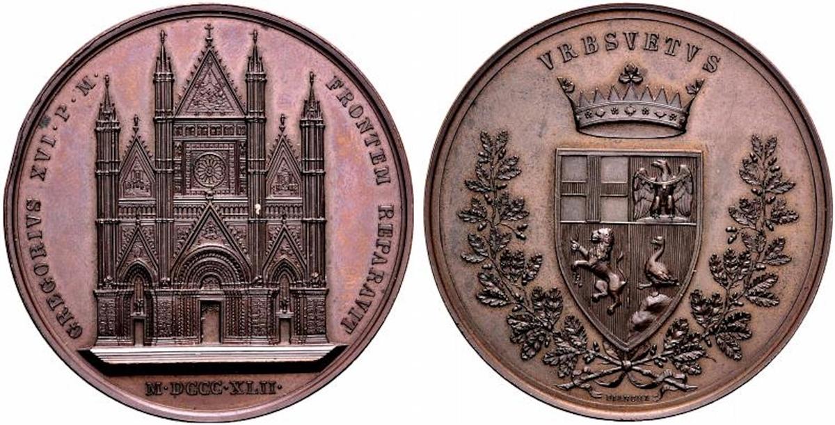 Un altro abuso del conio di dritto del Girometti, usato per una medaglia con al rovescio lo stemma comunale opera del Bianchi