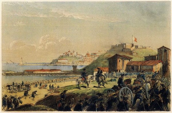 La città di Ancona assediata da terra nel 1799