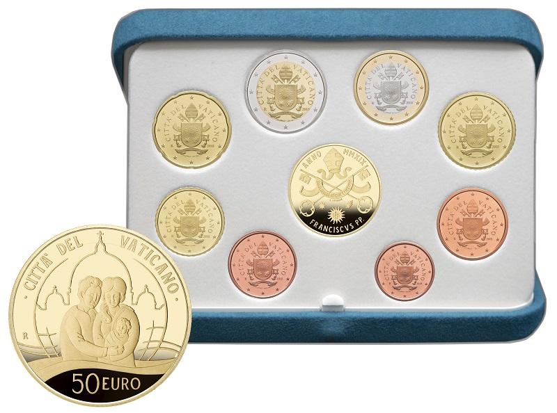 E' la famiglia al centro della moneta da 50 euro in oro che arricchisce la serie proof vaticana del 2019