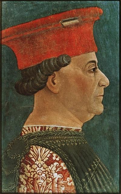 Francesco Sforza, duca di Milano, promosse la venerazione del Sacro chiodo che si conserva nel Duomo del capoluogo lombardo