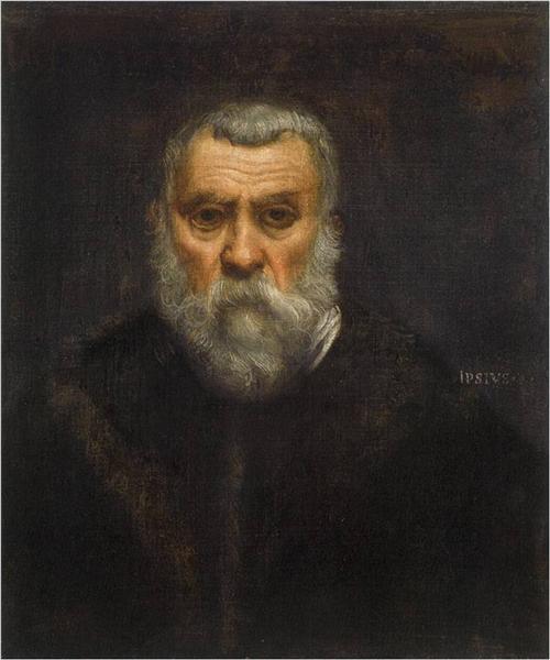 """1586. """"Autoritratto"""" di Jacopo Robusti detto il Tintoretto (Parigi - Museo del Louvre)"""