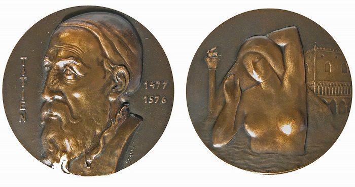 1972. Omaggio della Monnaie de Paris a Tiziano (AE, mm 72; collez. Voltolina)