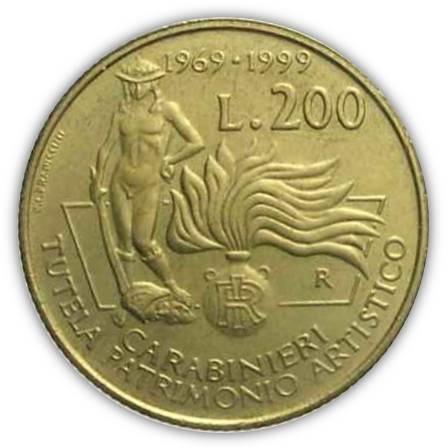 Ettore Lorenzo Frapiccini, nel 1999, dà vita a queste 200 lire per i trent'anni dell'allora Comando TPA