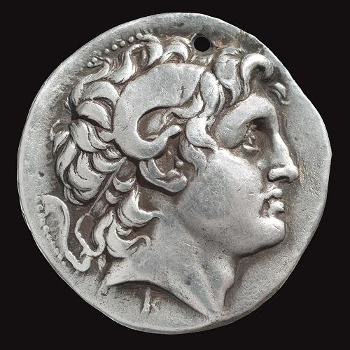 Regno Traco-macedone, Lisimaco (305-281 a.C.), Tetradracma, zecca di Pergamo (Museo Bottacin di Padova)