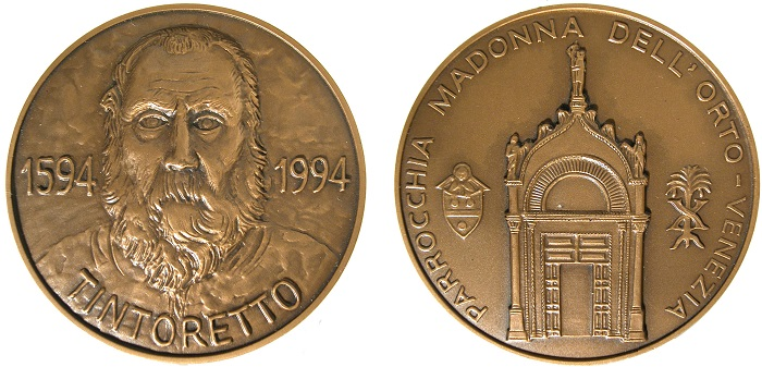 1994. IV centenario della morte di Tintoretto (AE, mm 45; Venezia, Museo Correr, XXXIX, 5927)
