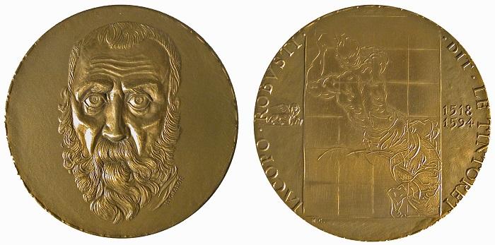 1971. Omaggio della Monnaie de Paris a Jacopo Robusti detto il Tintoretto (M. Charon, AE mm 72; collez. Voltolina)