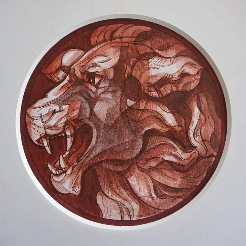 Un leone in medaglia: il bozzetto del dritto, per gentile concessione dell'autore