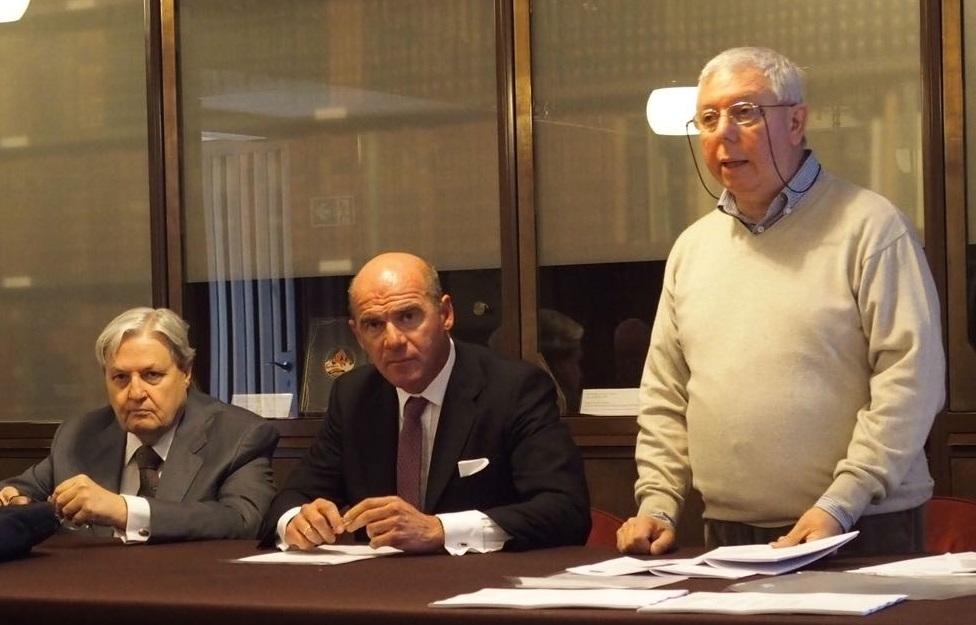 Le cariche sociali SNI per il 2019-2020: da sinistra il vicepresidente Winsemann Falghera, il neo presidente Pirera e il segretario Sozzi