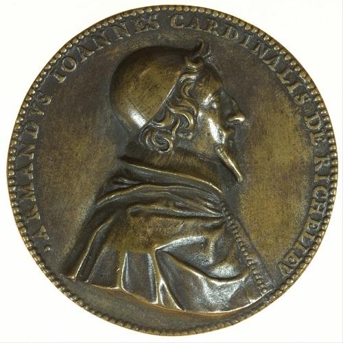 Rovescio della medaglia in bronzo di Jean Warin con ritratto di Richelieu (mm 72,5 per g 141,4)