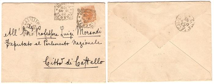 La posta del principe: ecco la busta indirizzata da Vittorio Emanuele a Luigi Morandi nel 1895