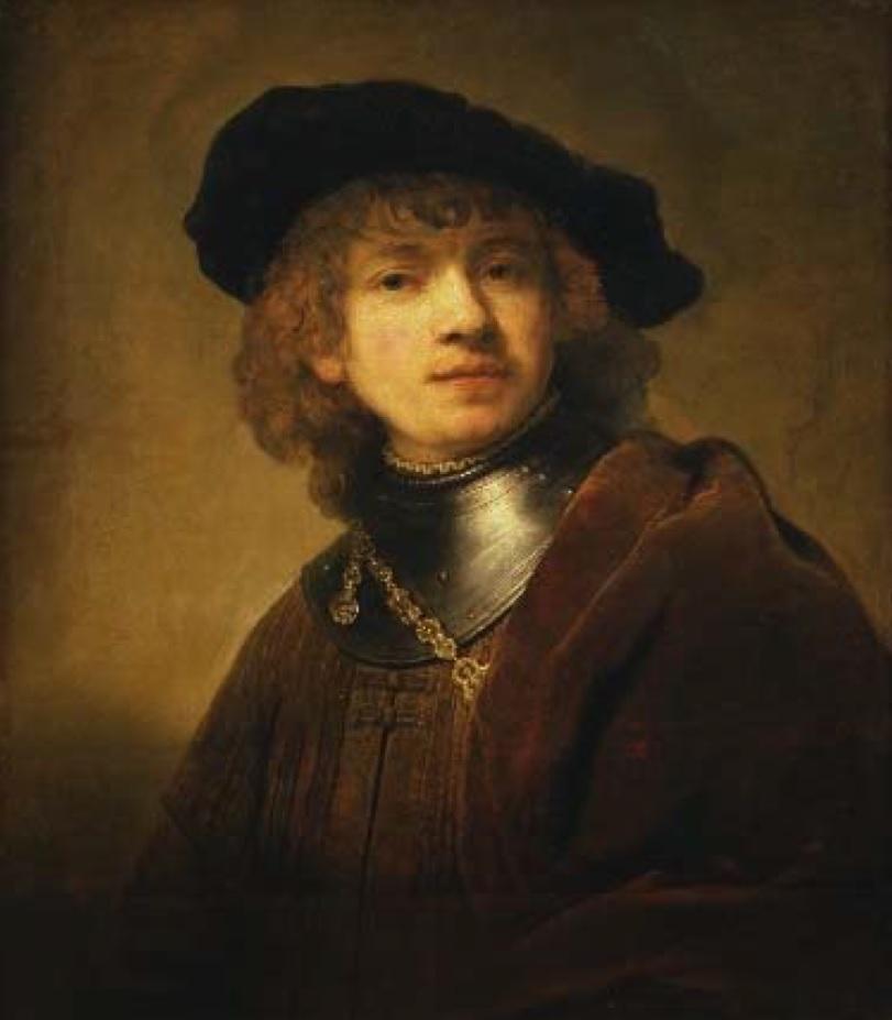 L'autoritratto del famoso pittore conservato a firenze e che è servito come base per il bozzetto della commemorativa