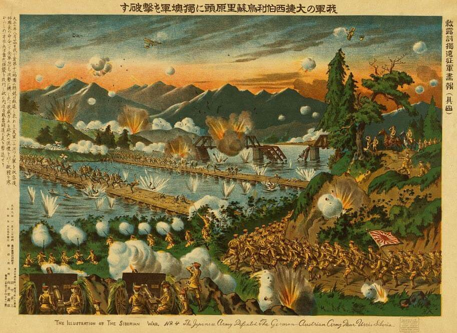 L'assedio di Tsingtau del 1914 in una stampa di propaganda giapponese