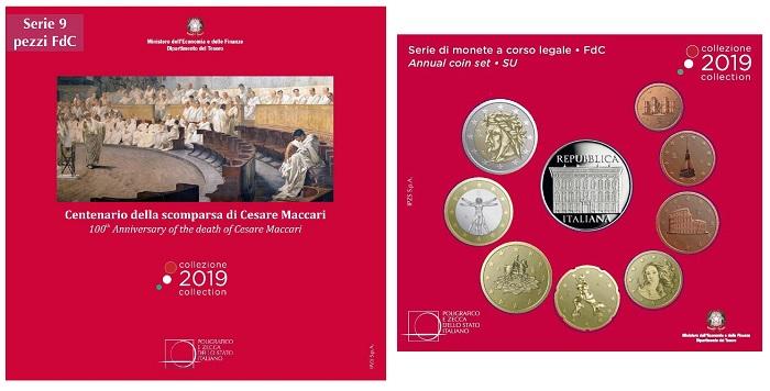 Veste di rosso, quest'anno, la divisionale 9 pezzi con inserita la 5 euro in argento per Cesare Maccari
